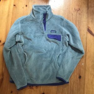 Patagonia Fleece (grey and purple)